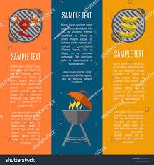 elements backyard picnic design bbq menu stock vector 482278210