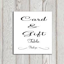 wedding gift table sign wedding gift card sign lading for