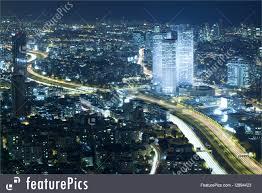picture of tel aviv skyline at night