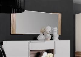 miroir mural chambre adulte 115 cm finition noyer clair