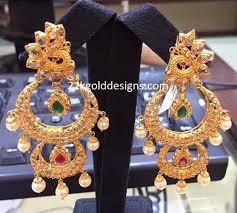 malabar diamond earrings indian jewellery designs malabar step chandbalis