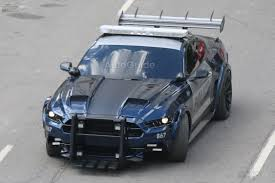 transformers ford mustang bumblebee and barricade spied in ahead of transformers
