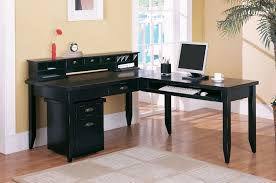 Computer Desk With Return Buy Tribeca Loft Black L Shaped Writing Desk And Return By Martin