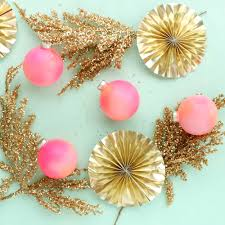 a kailo chic diy it colorful and easy gradient ornaments