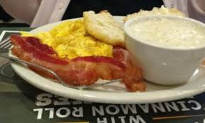 egg platter two scrambled egg platter got three eggs bacon grits biscuit