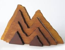 wood large wooden mountain range stacker waldorf