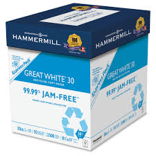 paper ream box great white recycled copy paper walmart
