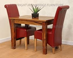 Leather Dining Benches Scroll Back Emperor Red Leather Dining Chairs With Red Leather