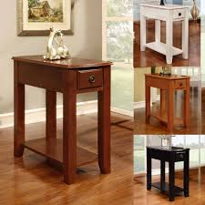 Skinny End Table Narrow End Table With Storage Narrow End Table For Living Room