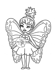 cute little fairy coloring page for kids for girls coloring pages