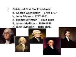 first five presidents the constitution tested ppt download