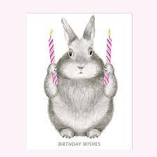 rabbit birthday birthday wishes bunny card with kraft envelope