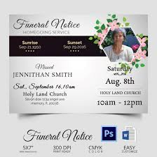 funeral notice template how to write obituary template