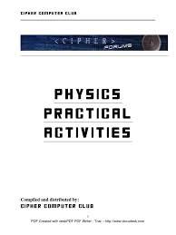 phy practical activities format voltage resistor