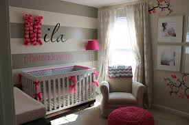 Pink And Gray Nursery Decor Wondrous Pink And Grey Baby Nursery Decor Attractive Design Home