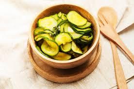 cuisine de courgettes salade de courgettes à la vapeur cuisson vapeur