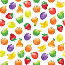 pattern with fruits on white background vector clipart image