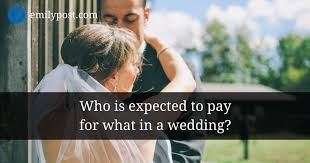 wedding expenses wedding expenses the traditional division the emily post