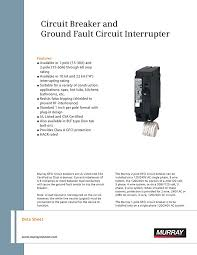 murray mp230gf 30 amp 2 pole 240 volt ground fault circuit