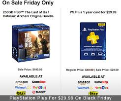 amazon playstation black friday playstation plus for 29 99 at multiple retailers on black friday