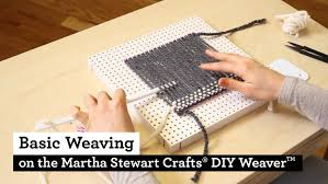 Basic Diy Loom And Woven by How To Do Basic Weaving With The Martha Stewart Crafts Diy Weaver