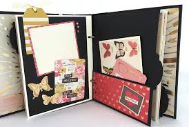 scrapbook photo albums premade scrapbook album kit from artsy albums etsy giveaways
