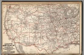 United States Map With Mileage Scale by Leahy U0027s Railway Distance Map Of The United States David Rumsey
