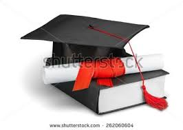 graduation diploma graduation mortar board diploma stock photo 269975039