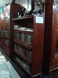 Vintage Bookcase With Glass Doors Antique Bookcase 4 Layers Glass Doors Narra For Sale Philippines
