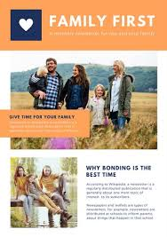 orange simple modern outdoor family newsletter templates by canva