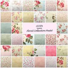 lecien charm pack fabric squares floral pastel patchwork quilting