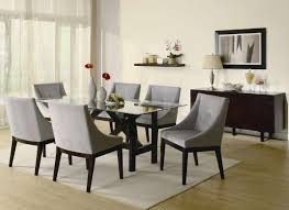glass top dining table with shiny surfaces providing contemporary