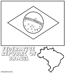 brazilian flag coloring pages coloring pages to download and print