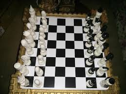 got an awesome chess board from a friend the restaurant at the