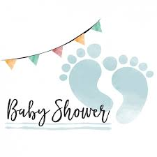 baby shower watercolor baby shower card for boy vector free