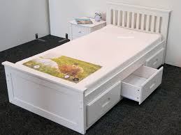White Wood Single Bed Frame Diy Storage Bed Frame For Budget Friendly Furniture All Home