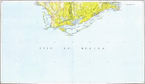 Mexico Beach Map by Download Topographic Map In Area Of Mexico Beach Port St Joe