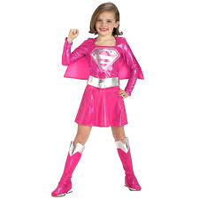 Halloween Costumes Girls Age 8 Ck165 Pink Supergirl Superhero Hero Superman Fancy Dress