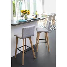 30 Inch Bar Stool With Back Handy Living Curved Back Dove Grey Linen 30 Inch Bar Stools Set