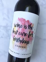 wine birthday gifts birthday gift wine labels birthday gift for wine labels