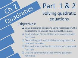 quadratics edexcel a level year 1 as pearson ch 2
