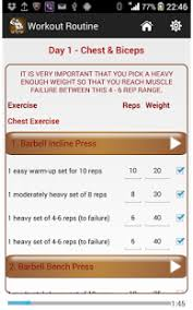 Weight Bench Workout Plan Dream Body Workout Plan Android Apps On Google Play