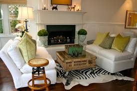 loveseat slipcover in living room beach style with colonial white