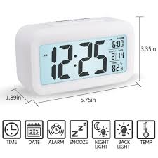 ivation clock alarm clock arespark digital travel alarm clock battery operated