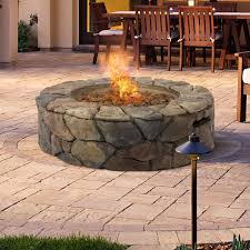 simple design patio gas fire pit beauteous bcp stone fire pit