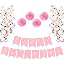 pastels decorations happy birthday bunting 13