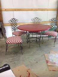a bunch of mismatched chairs i refurbished for a friends dining