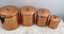 copper canister set kitchen copper kitchen canister sets ebay