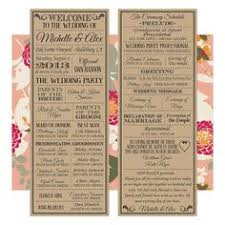 vintage wedding programs the world s catalog of ideas