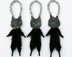 black cat ornaments decor black cats in witch